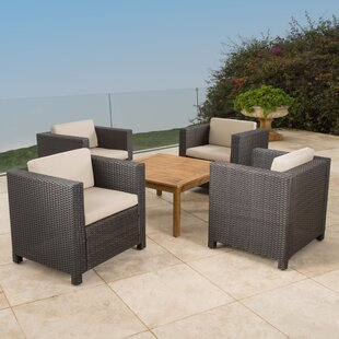 Ballew 5 Piece Conversation Set with Cushions