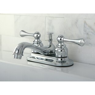 Kingston Brass English Vintage Centerset Bathroom Sink Faucet with ABS Pop-Up Drain Image