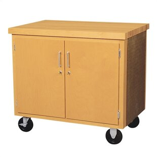 4 Compartment Classroom Cabinet with Casters by Shain