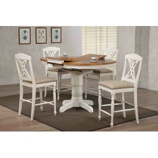 Butterfly Back Upholstered Counter Height 5 Piece Pub Table Set Iconic Furniture