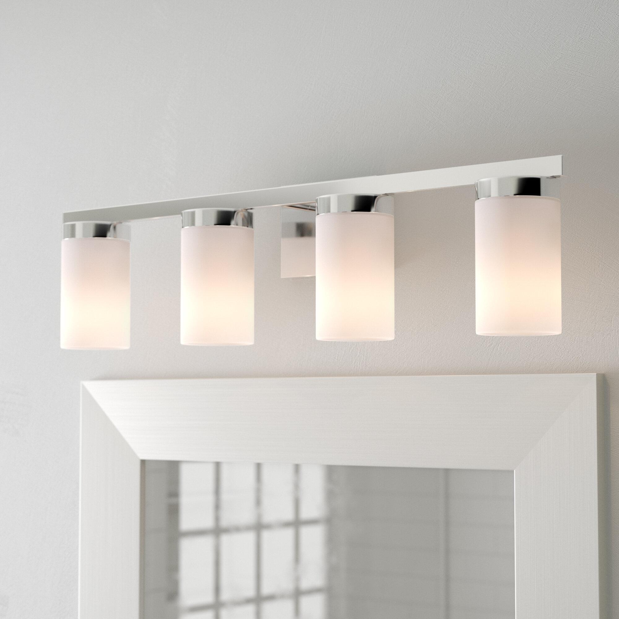 Ivory Cream Shade Bathroom Vanity Lighting You Ll Love In 2021 Wayfair