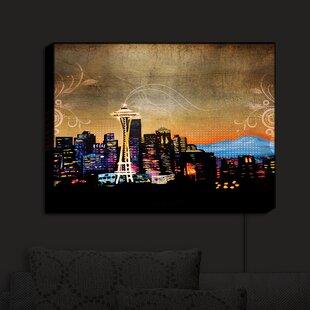 Latitude Run Seattle Skyline' Print on Fabric