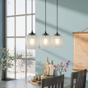 Paladino Glass 3-Light Kitchen Island Pendant
