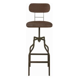 Andrea Adjustable Height Bar Stool (Set of 2) by 17 Stories