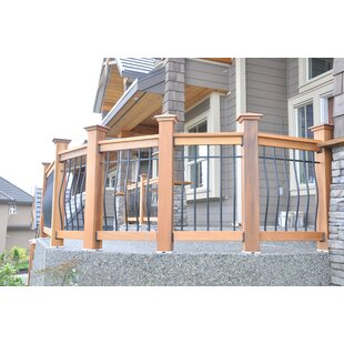 3.5 Ft. H X 6 Ft. W Tuscany Cedar Straight Deck Railing Panel By Vista Railing Systems Inc