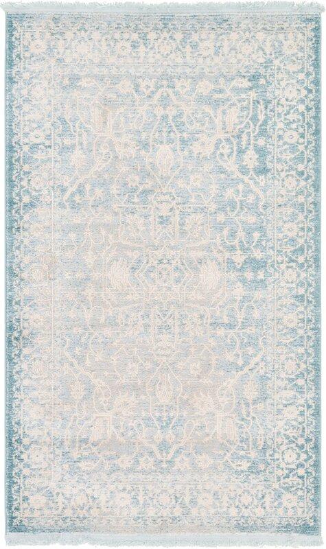 Elegant Bryant Oriental Light Blue Area Rug