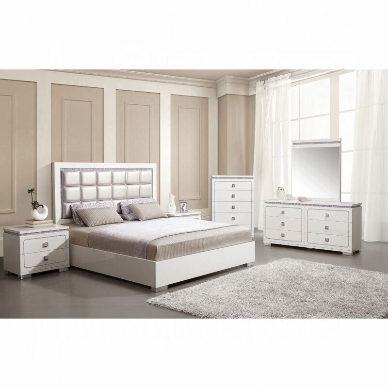 Everly Quinn Mcmillan Upholstered Standard Configurable Bedroom Set From Wayfair S