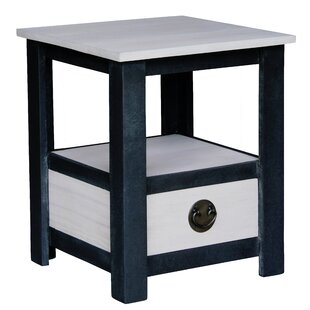 Irvine Fine Handcrafted Solid Mahogany Wood End Table by NES Furniture