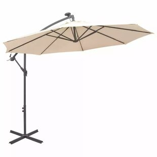 3m Cantilever Parasol With Lights By Symple Stuff