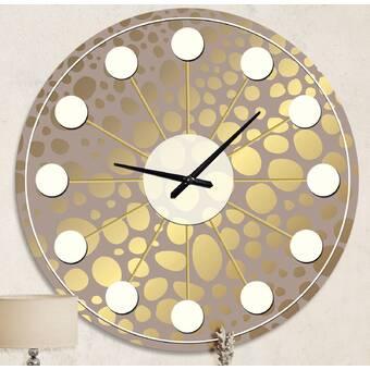 Ebern Designs Celebrated Pumped Up Abstract Metal Wall Clock Wayfair