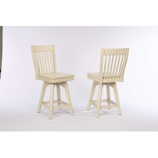 Yvonne 23.75 Swivel Bar Stool (Set of 2)
