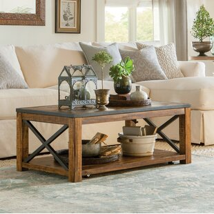 Laurel Foundry Modern Farmhouse Battershell Coffee Table with Lift Top