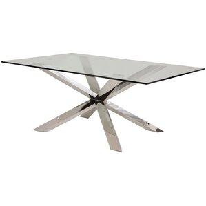 Boler Glass Top Dining Table by Orren Ellis