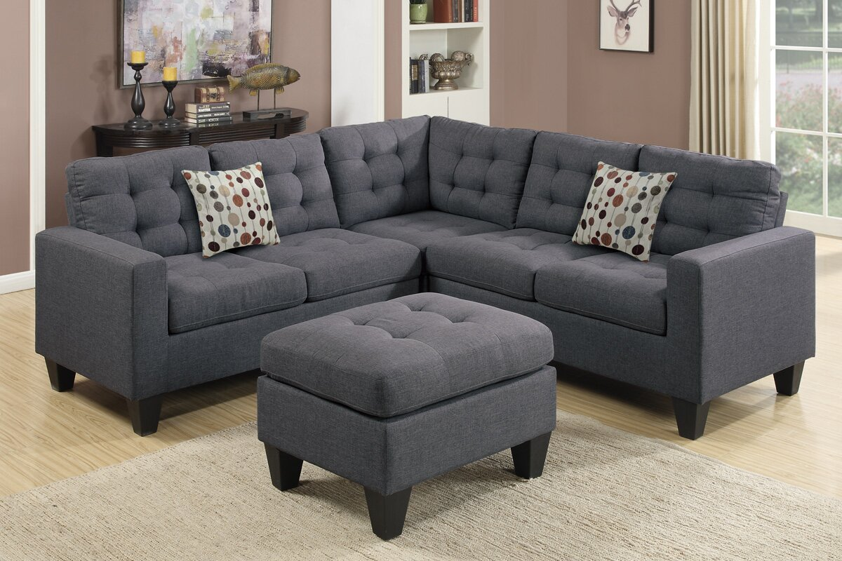 Pawnee Sectional with Ottoman Andover Mills Pawnee