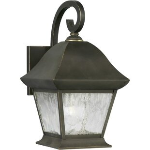 Reviews Deering 1-Light Outdoor Wall Lantern By Charlton Home