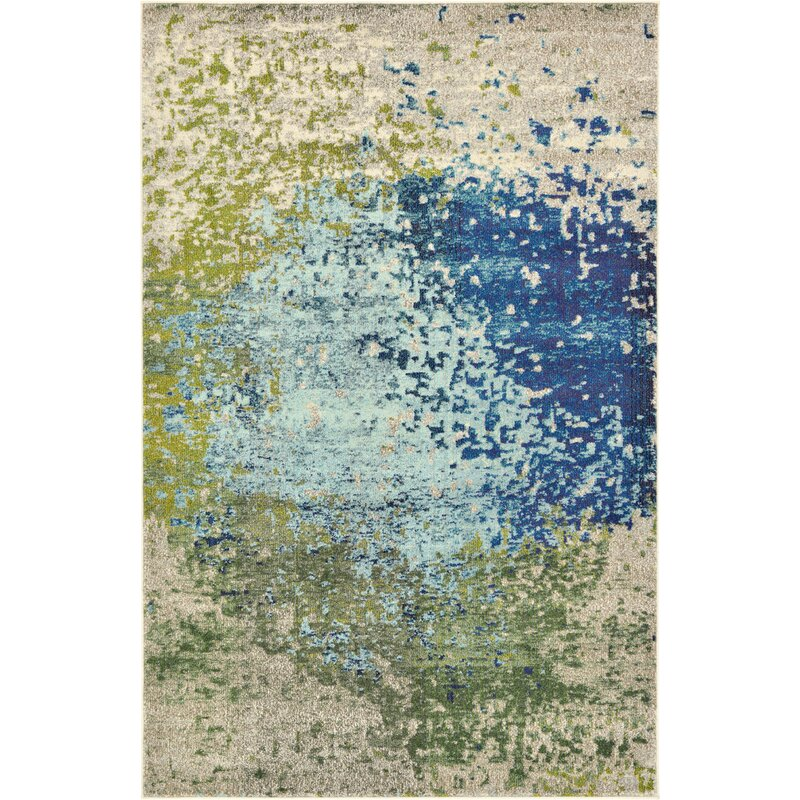 Hayes Blue/Green Area Rug & Reviews