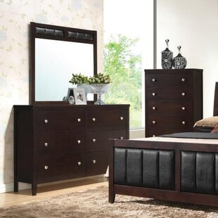 Lucy 6 Drawer Double Dresser with Mirror by Red Barrel Studio