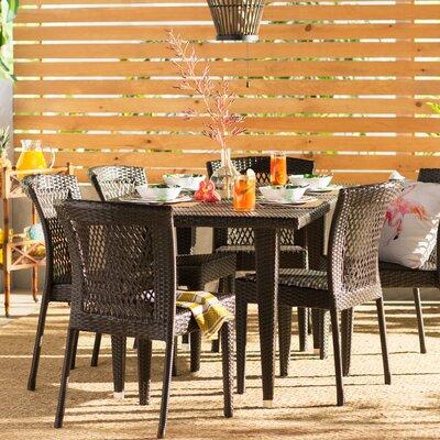 Vinalhaven 7 Piece Dining Set by Beachcrest Home 2020 Sale