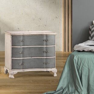 Aiken 3 Drawer Nightstand by One Allium Way