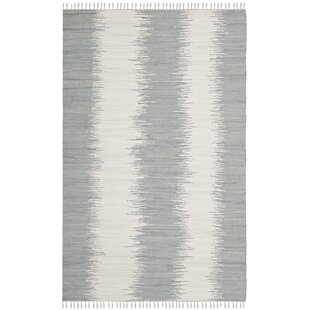Lotie Hand Woven Gray White Area Rug