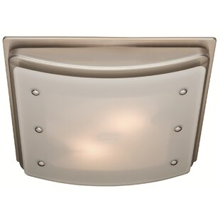 Best Reviews Ellipse 100 CFM Bathroom Fan with Light and Night-light ByHunter Home Comfort