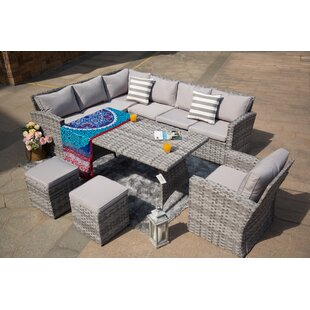 Kamdyn 6 Piece Rattan Sectional Seating Group with Cushions
