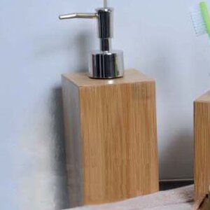 Ecobio Square Bamboo Soap Dispenser