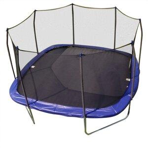 14' Square Trampoline and Enclosure