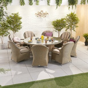 Odine 8 Seater Dining Set With Cushions By Sol 72 Outdoor