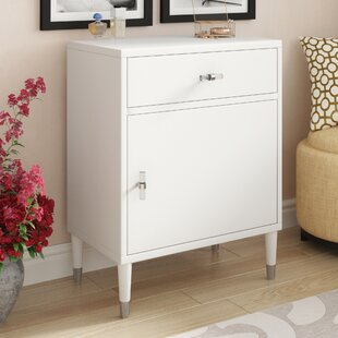 Willa Arlo Interiors Whitcomb Modern Chairside 1 Drawer and 1 Door Accent Cabinet