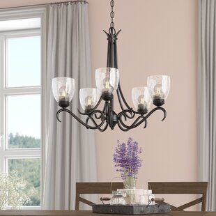 Laurel Foundry Modern Farmhouse Sheila 5-Light Shaded Chandelier