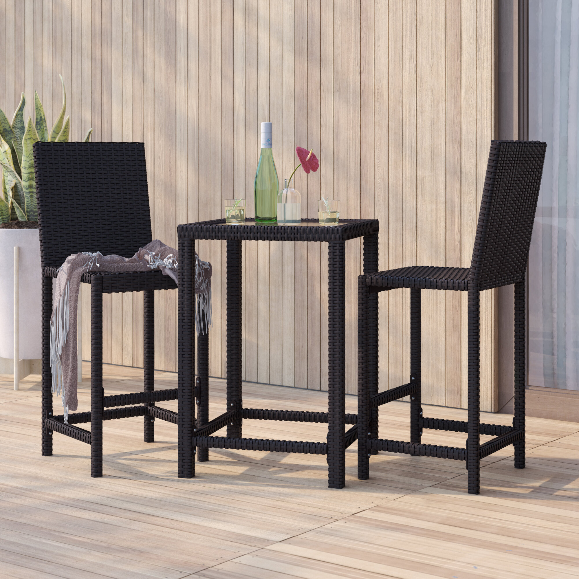 Superieur Corlane 3 Piece Bar Height Dining Set