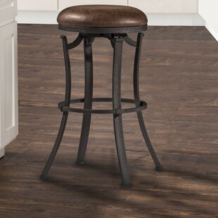 Karsten Swivel Bar Stool Loon Peak