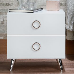 Orren Ellis Magnus 2 Drawer Nightstand