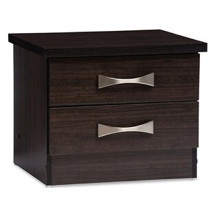 Orren Ellis Gillies 2 Drawer Nightstand