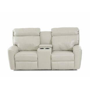 Shop Chau Solid Power Reclining Loveseat with Console by Red Barrel Studio