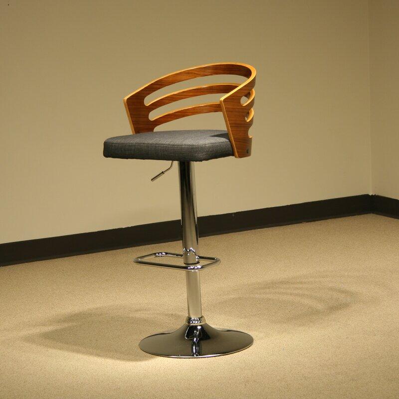 Ordinaire Modern Wood Adjustable Height Swivel Bar Stool