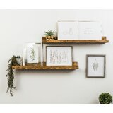 Benevides Shallow Rustic Luxe 2 Piece Wall Shelf Set
