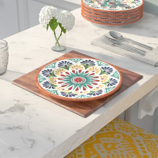Check Out Adah 10.5 inch  Melamine Dinner Plate (Set of 6) :Affordable Price