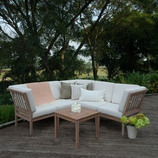 Hermitage 6 Piece Sectional Seating Group with Cushions by Bungalow Rose