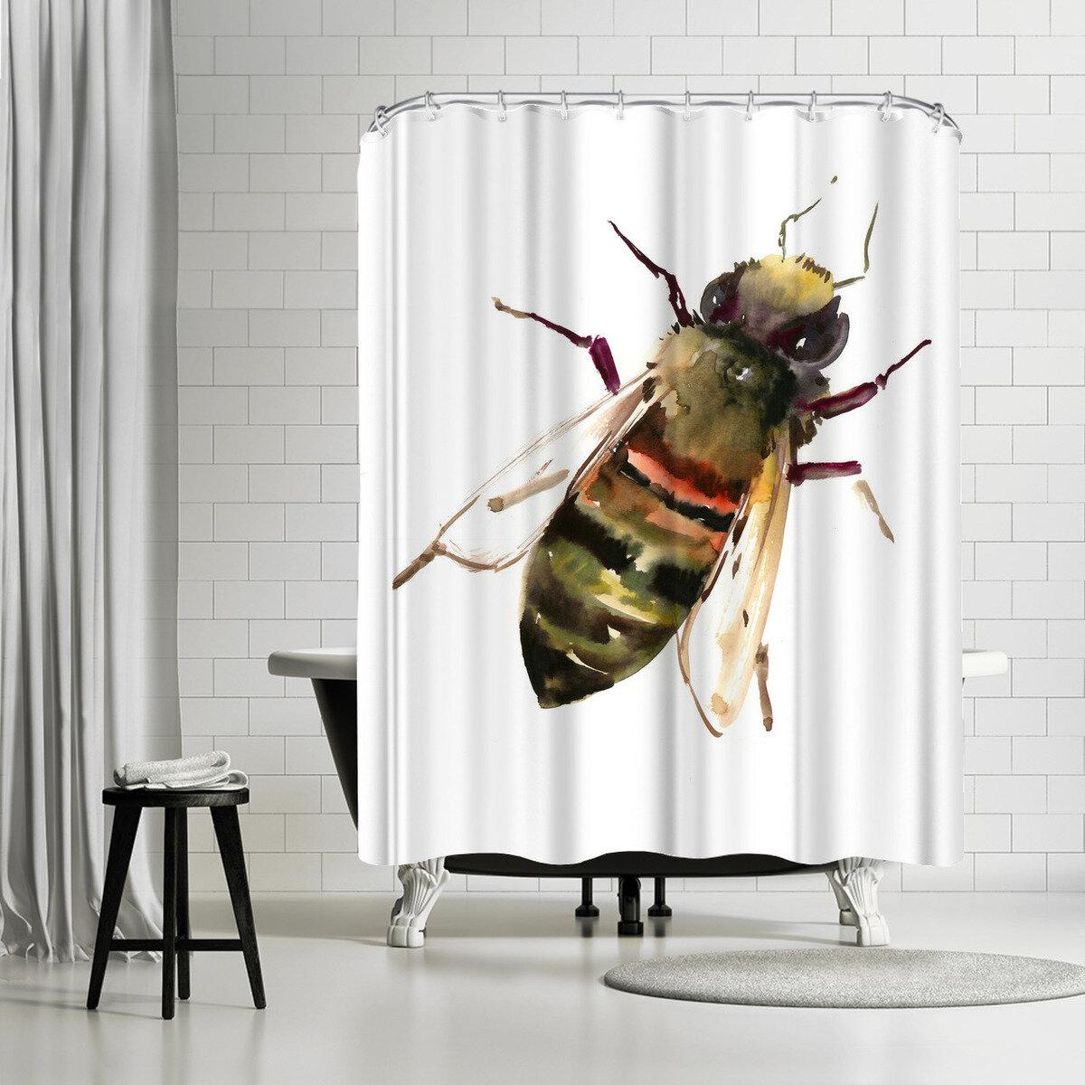 East Urban Home Suren Nersisyan Honey Bee Single Shower Curtain Wayfair