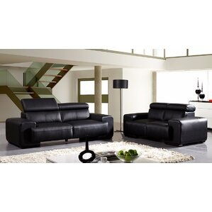 Leather Configurable Living Room Set by Davi..