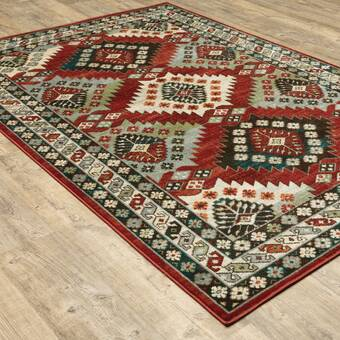 Red Barrel Studio Tackett Power Loom Wool Brown Beige Rug Wayfair Ca