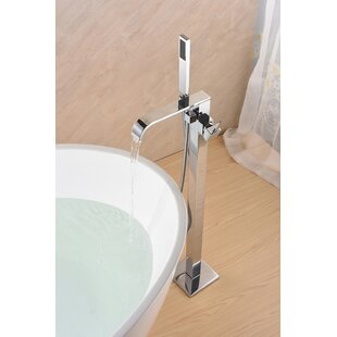 Compare prices SevenFalls Single Handle Floor Mounted Freestanding Tub Filler with Hand Shower ByEisen Home