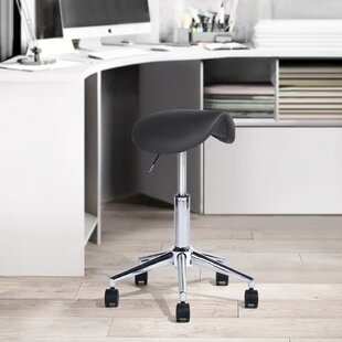 Hawkesbury Common Height Adjustable Ergonomic Lab Stool by Symple Stuff