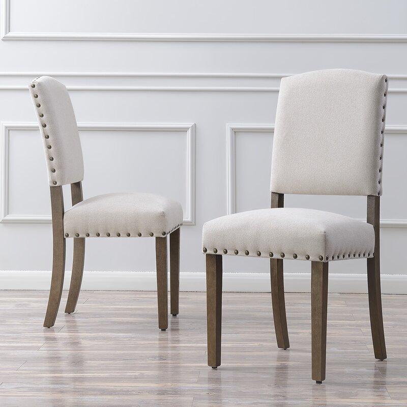 Nice Gracie Oaks Rodarte Linen Padded High Back Upholstered Dining Chair U0026  Reviews | Wayfair