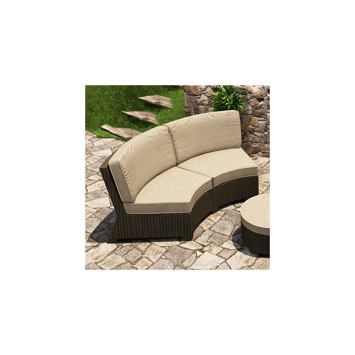 Barbados Curved Sofa with Cushions