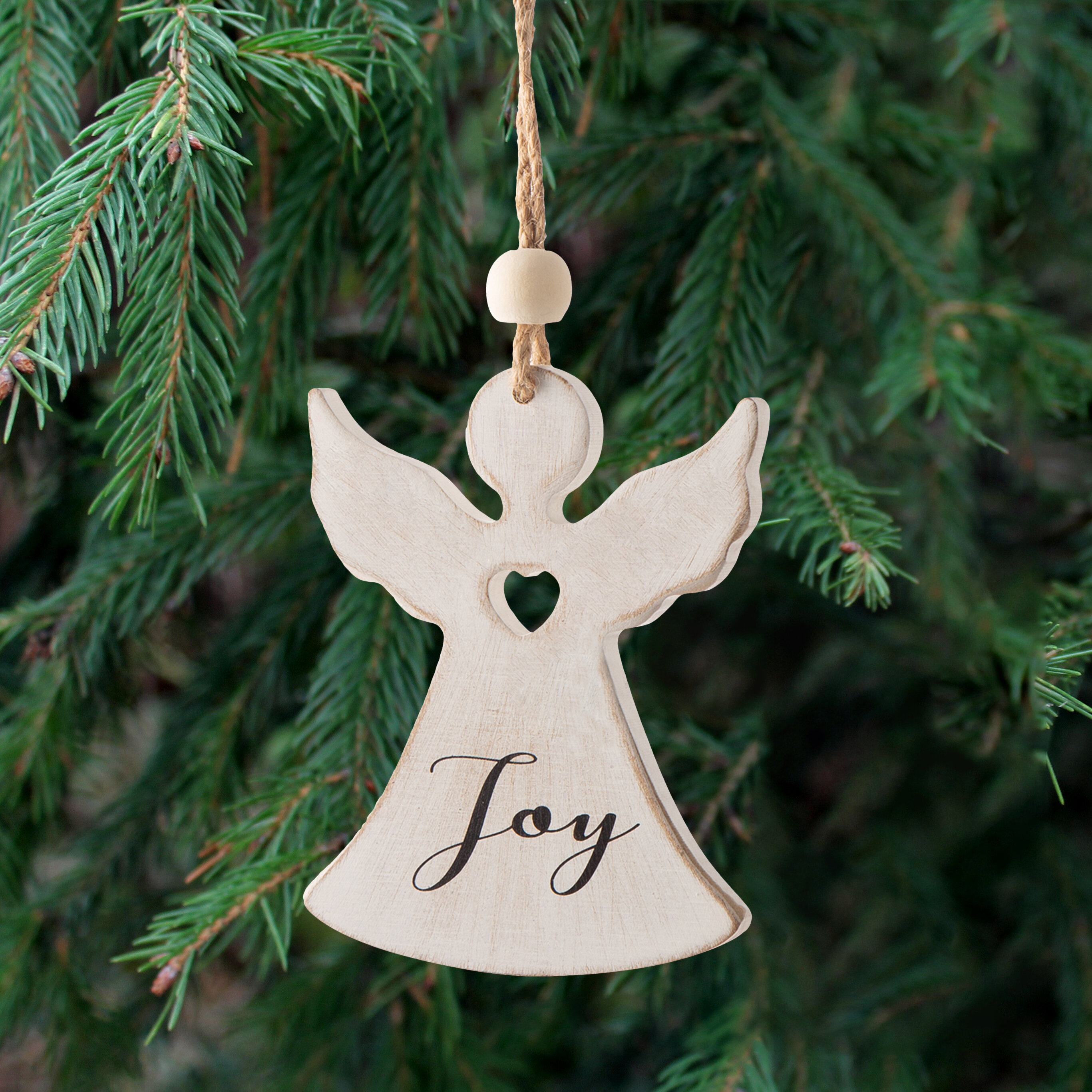 The Holiday Aisle Christmas Wood Angel Holiday Shaped Ornament Reviews Wayfair