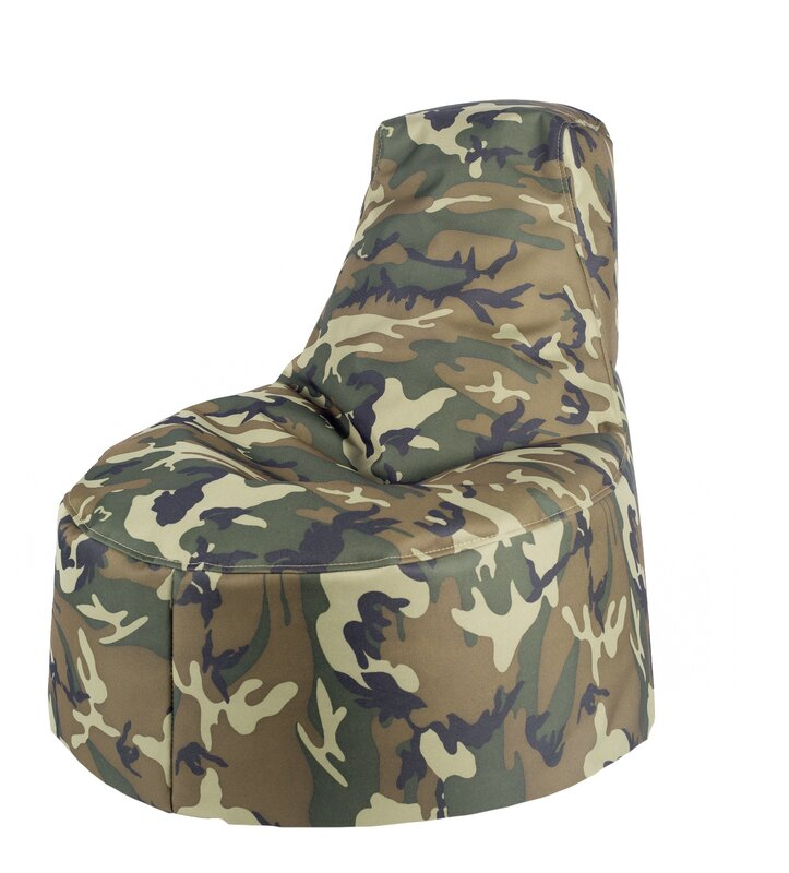 Aurore Kids Durable Camo Bean Bag Chair For Freeport Park