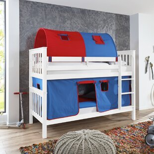 Florus European Single Bunk Bed With Curtain By Zoomie Kids